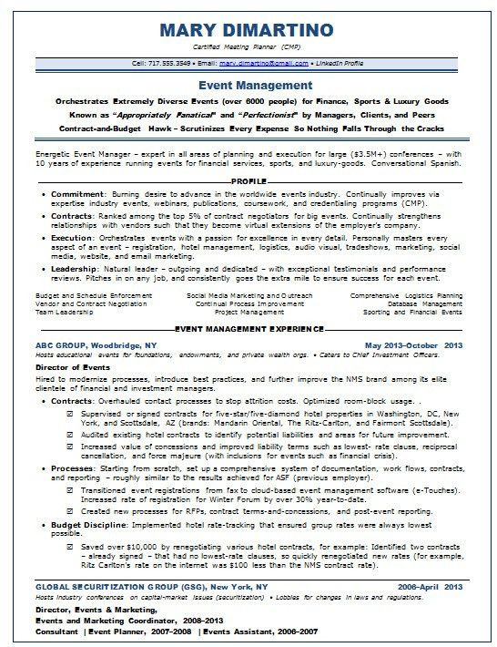 financial planner resume