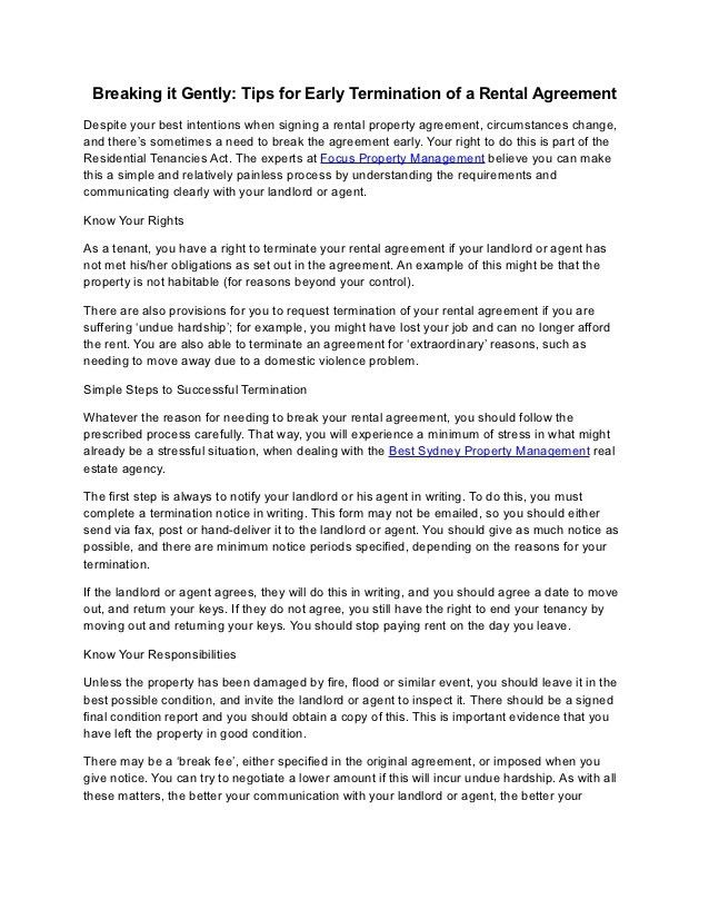 Letter To End Lease Agreement Lease Termination Letter Templates - lease template word
