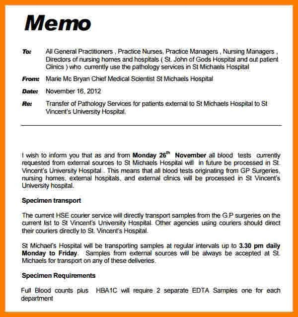 Professional Memo Format Template Professional Memo Template 10 - external memo templates