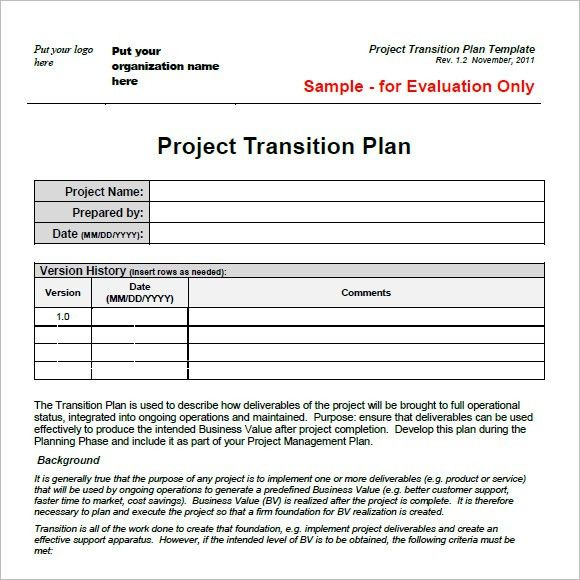 Transition Plan Template Transition Plan Template Free Word Excel - transition plan template