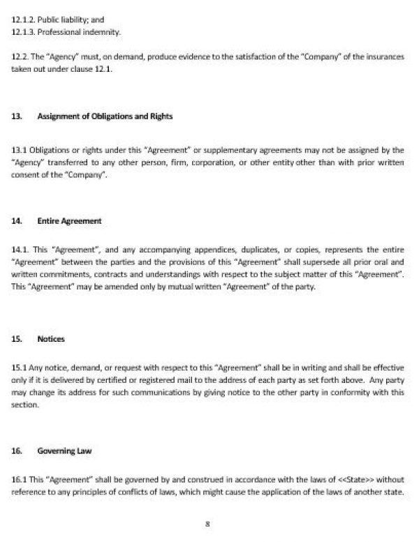 Indemnity Agreement Template Indemnity Agreement Template Form - subcontractor agreement template