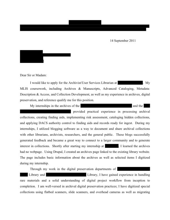 Open Cover Letters Page 9