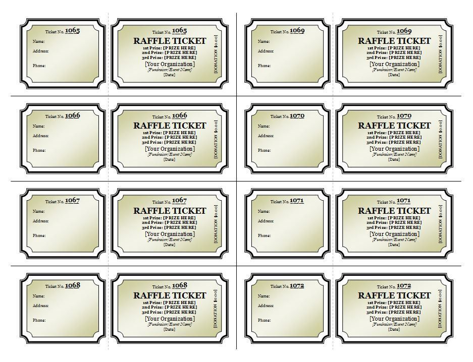 Free Printable Raffle Ticket Template Download Best 25 Ticket - printable ticket template free