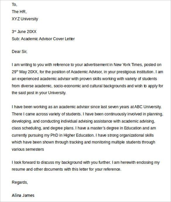 academic job cover letter