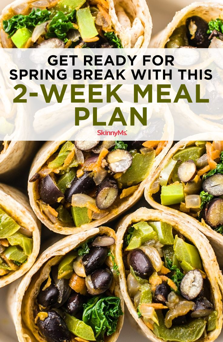Get Ready for Spring Break with This 2-Week Meal Plan