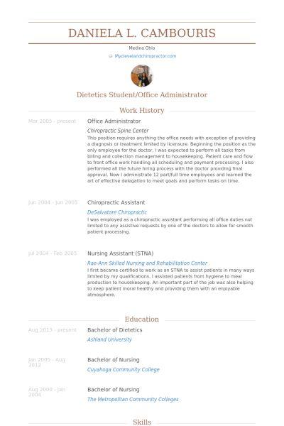 chiropractic assistant resume node2003-cvresumepaasprovider - stna resume sample