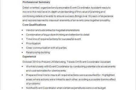event planner resume | lukex.co