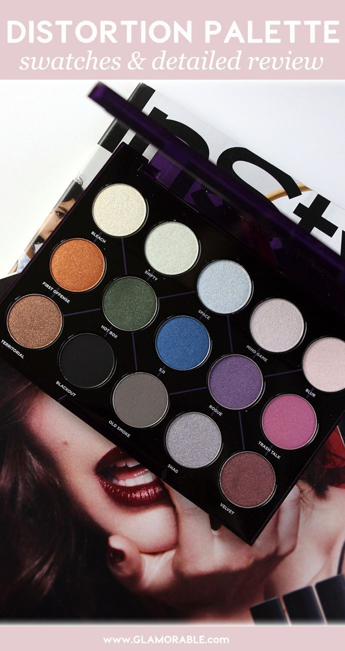 Urban Decay Distortion Palette Review, Swatches, Release date – via @glamorable #urbandecay #distortionpalette #distortion #palette #makeup