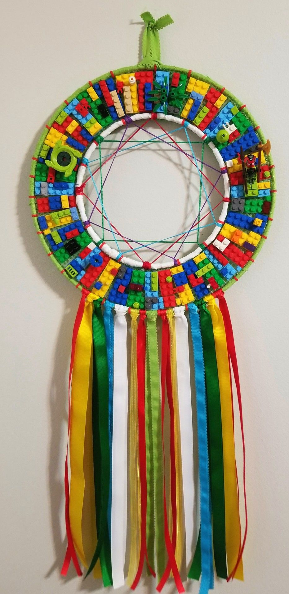 Lego Fun Dreamcatcher, green, red, yellow, colorful, real