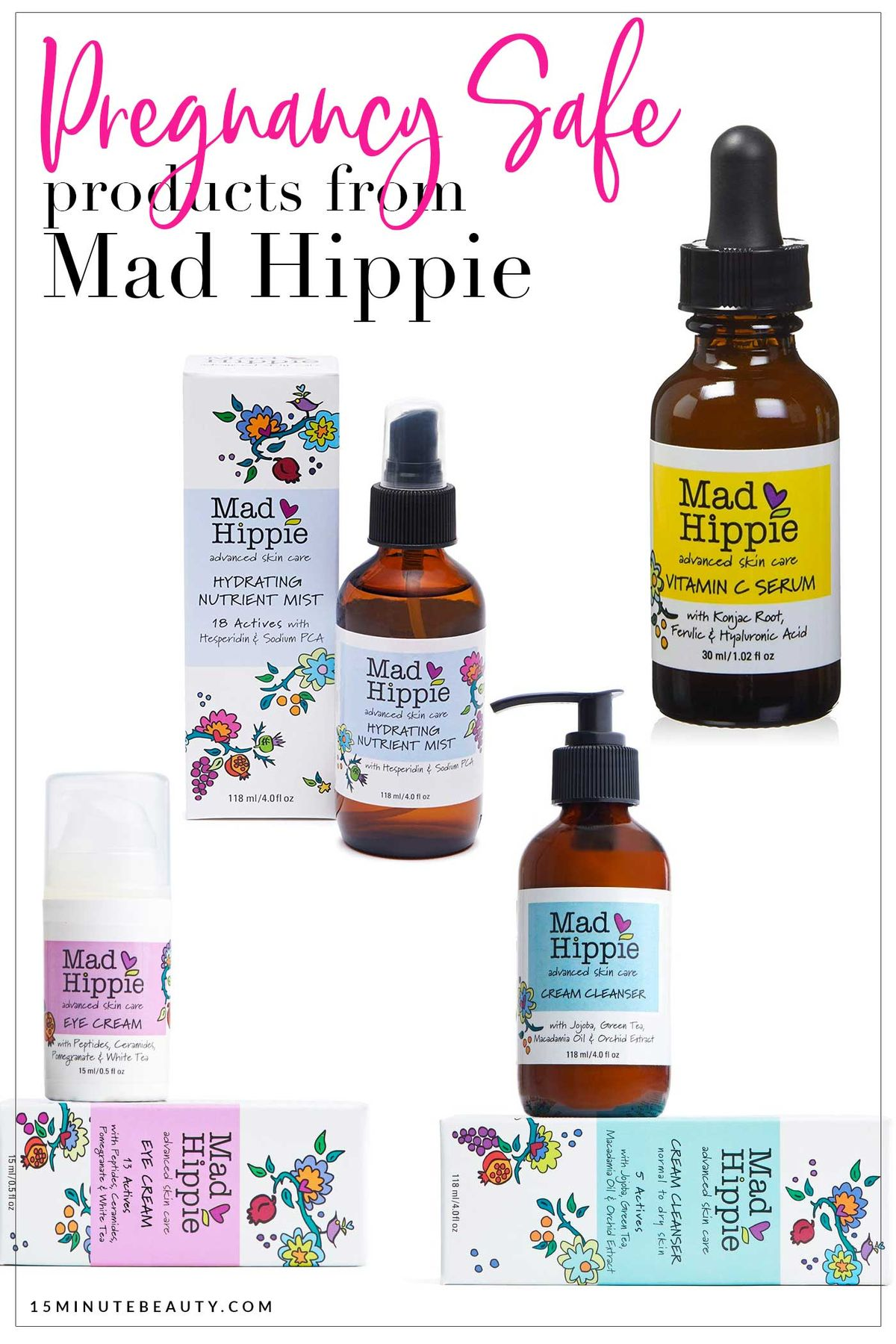 Which products from Mad Hippie are ok to use when you are pregnant? This site has a huge list of skin care and makeup products that you can use when during pregnancy and while nursing, and they've all been screened by a doctor! Saving for later.
