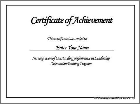 Certificate Of Achievement Templates Free Free Certificate - merit certificate template