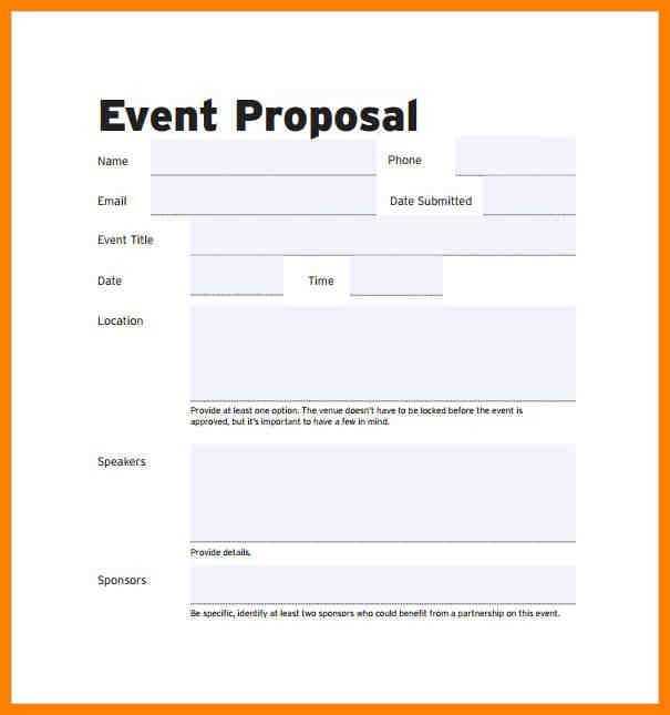 Sponsorship Proposal Template For Events 28 Event Sponsorship - event proposal template doc