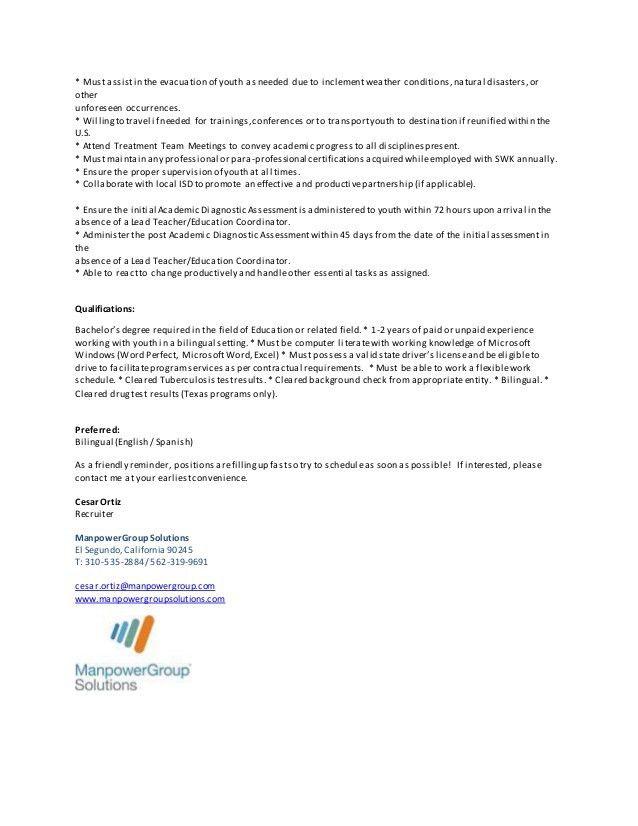 spanish teacher job description substitute teacher resume