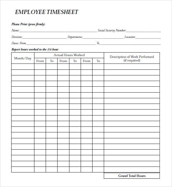 payroll time sheets