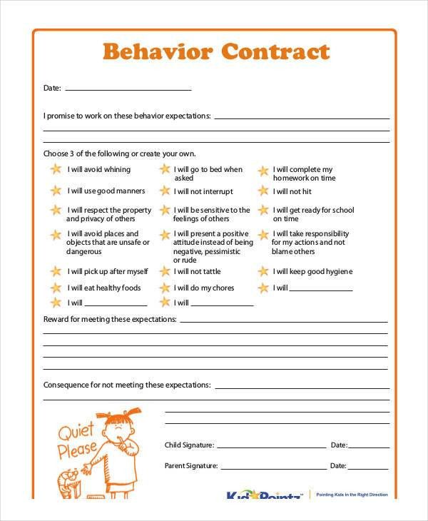 Blank Contracts Nyc Sounds Forms Contracts Blank Title, Dj - sample behavior contract
