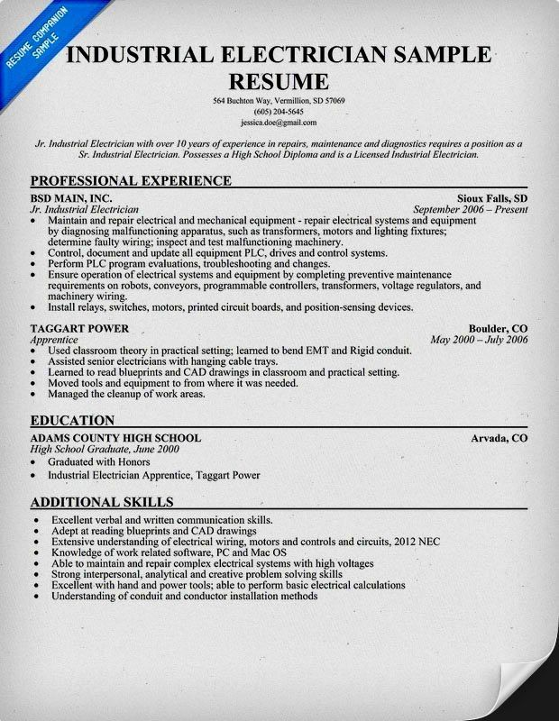 Electrician Resume Template Unforgettable Journeymen Electricians - electrician resume template