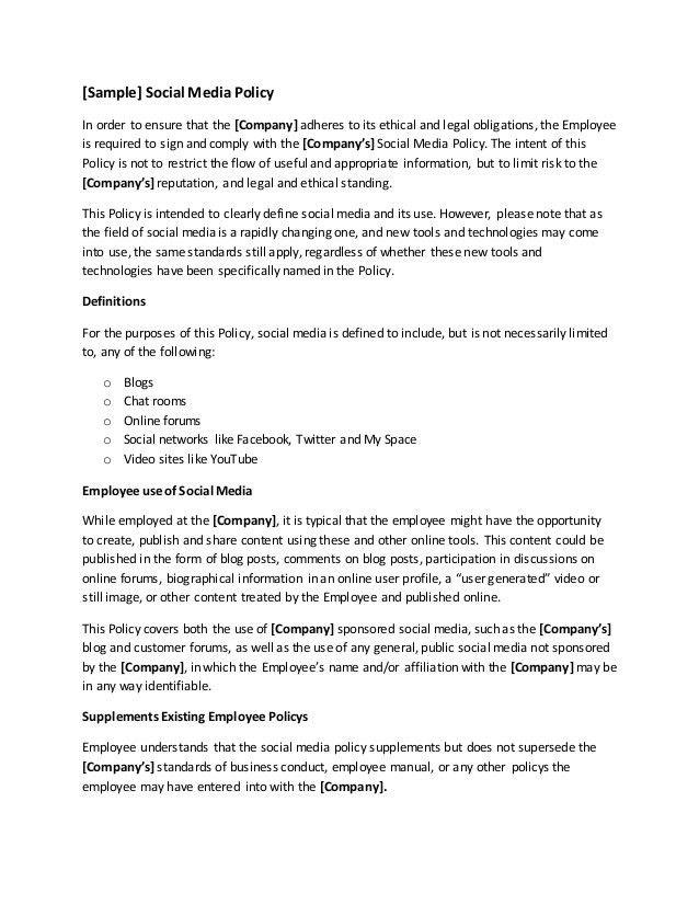 Company Policy Template Company Policy Template 6 Free Pdf - employee manual template
