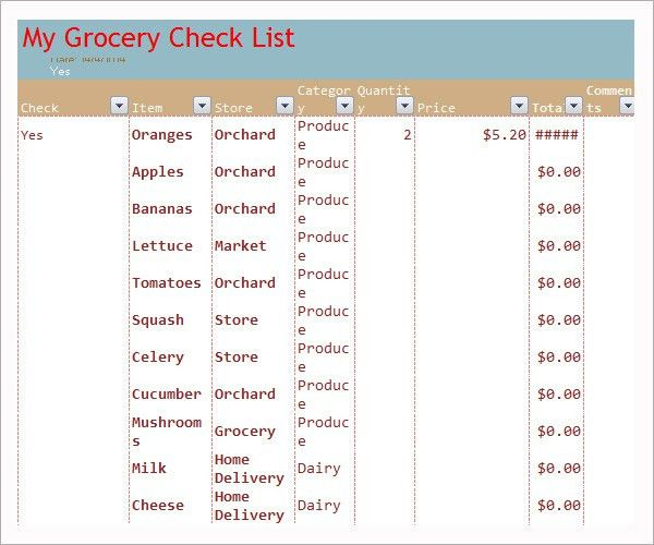 sample grocery list with prices - Onwebioinnovate - grocery list sample