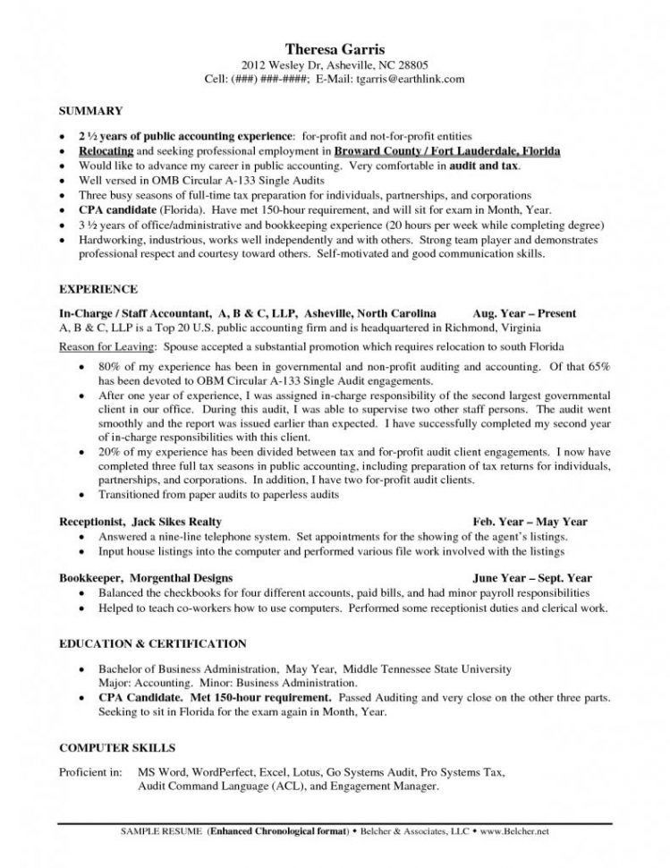 Tax Auditor Sample Resume Tax Accountant Sample Resumes