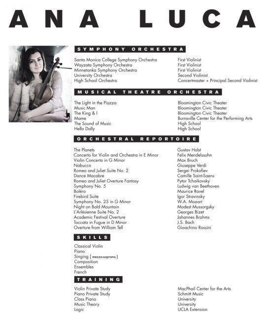 Music Resume Template Music Resume Sample Resume Genius, Music - musical theatre resume examples