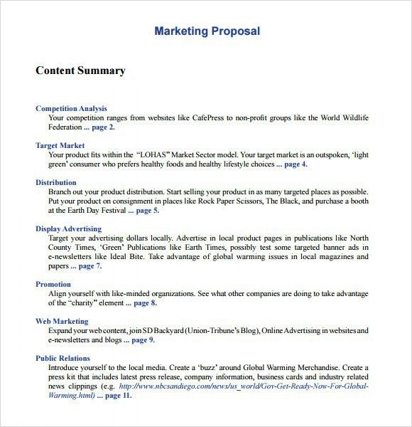 Sample Marketing Proposal Template Sample Marketing Proposal - non profit proposal template