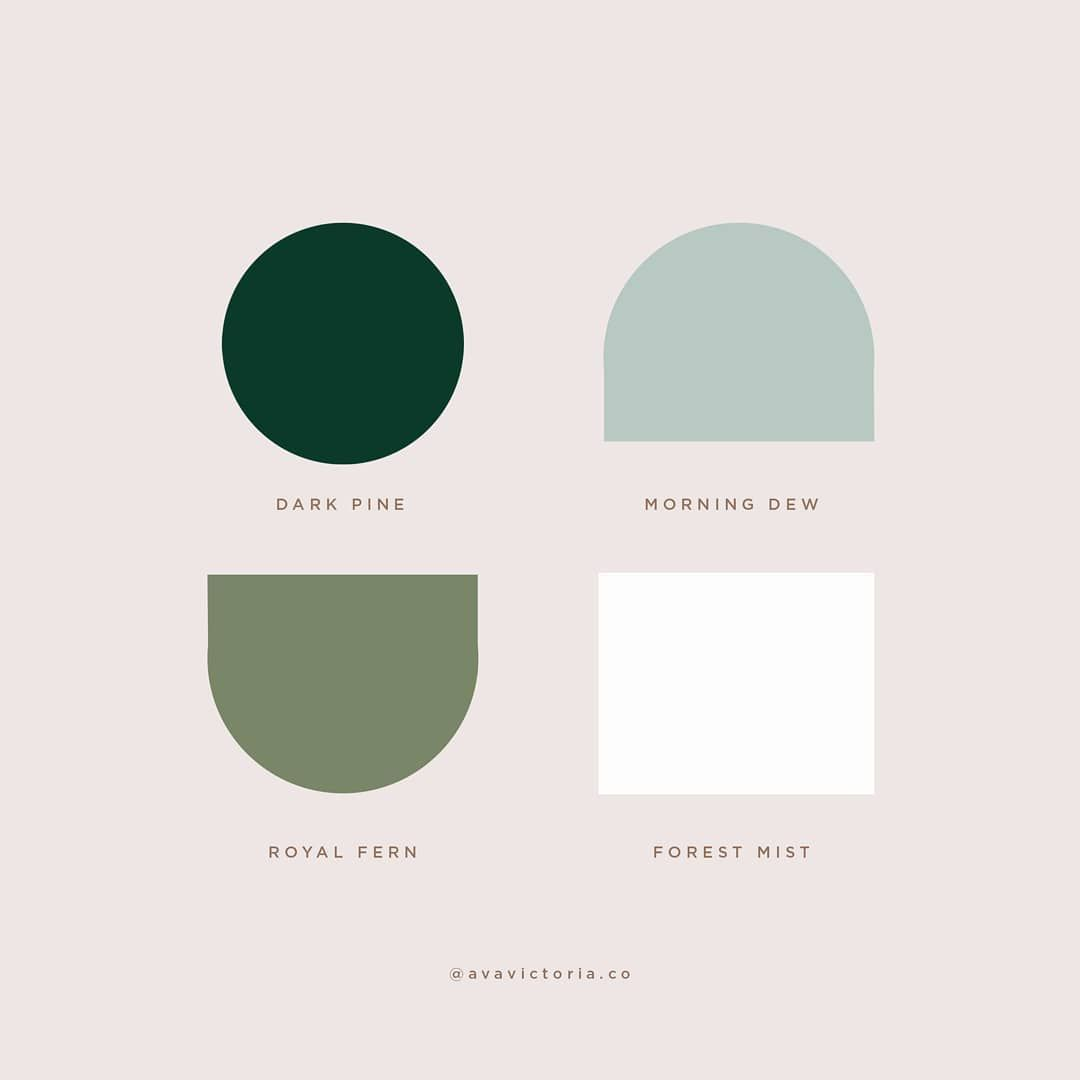 """Ava Victoria on Instagram: """"Sharing this color palette of the month. Happy weekend, folks! 🍃"""""""