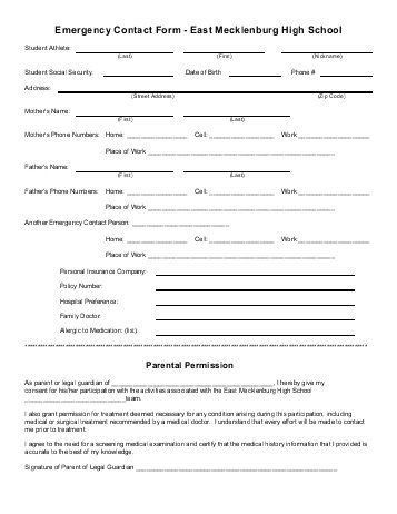 Information Form Template Employee Information Form Office - contact information form