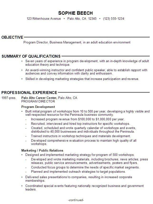 High School Student Resume Objective Examples - Examples of Resumes