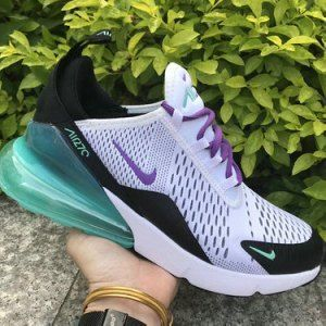 Nike Air Max 270 White Blue Purple Women's Men's Casual Shoes