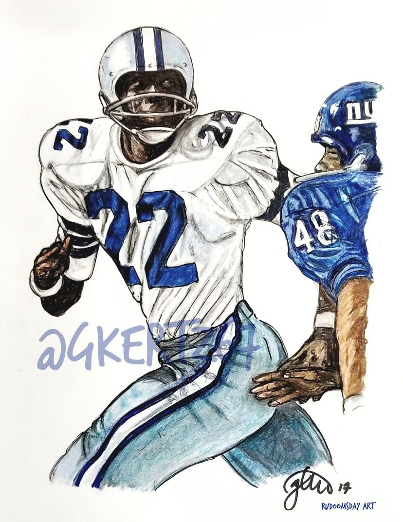 reputable site 11fd0 0f4e4 Bullet Bob Hayes #22 Dallas Cowboys artwork by Glen Kertes ...