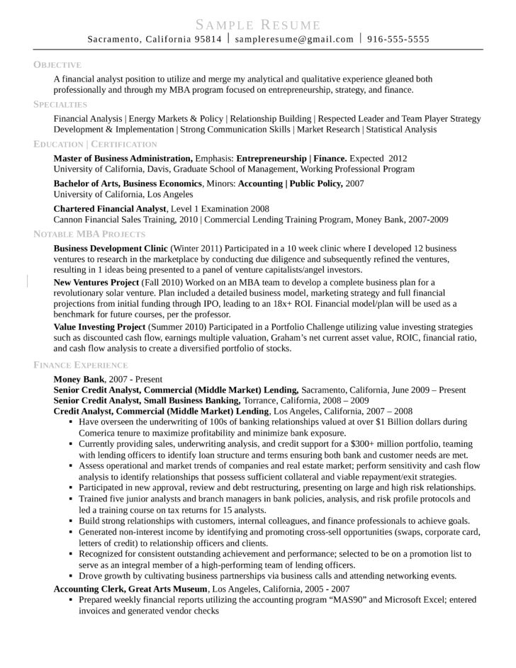 Market Research Analyst Sample Resume Market Research Analyst