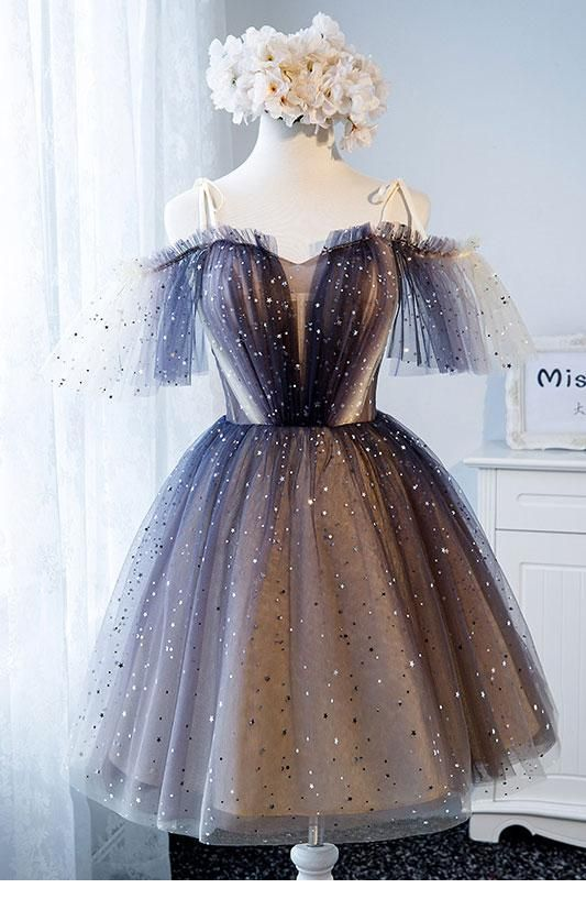 Cute tulle dress with glitter