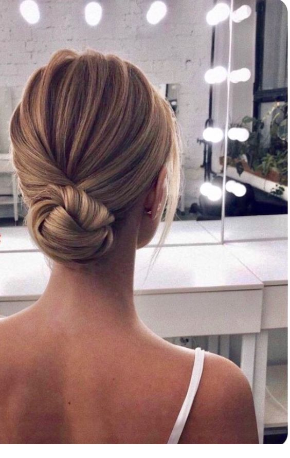 I love this low bun style