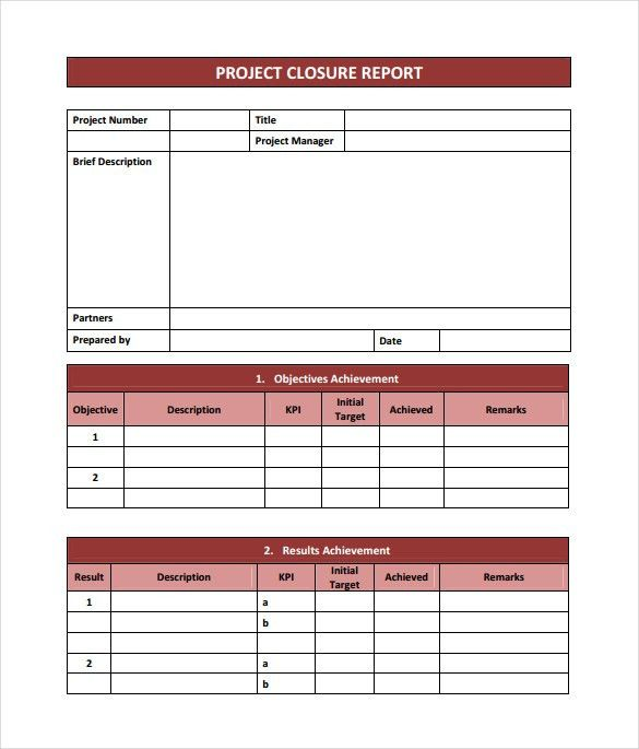 Project Summary Template 7 Project Summary Templates Free Word - project closure report template