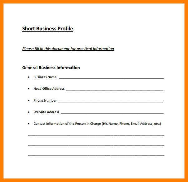 Business Profile Format Business Profile Templates Easily Create - company profile format