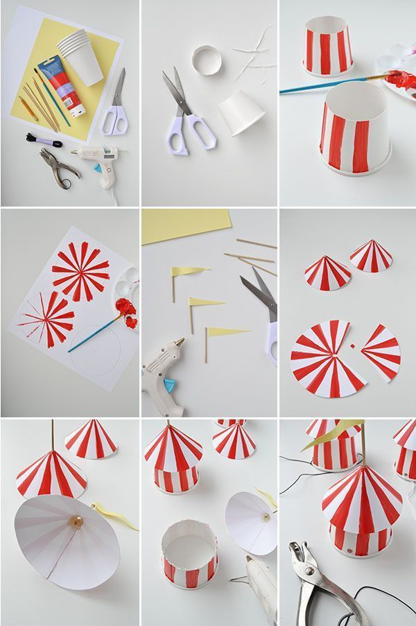 DIY Circus Party Hats (Oh Happy Day!)