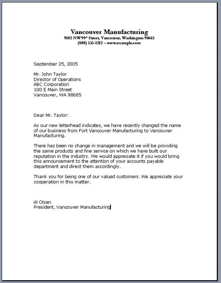 Example Of Business Letter 6 Samples Of Business Letter Format To - sample business letter example