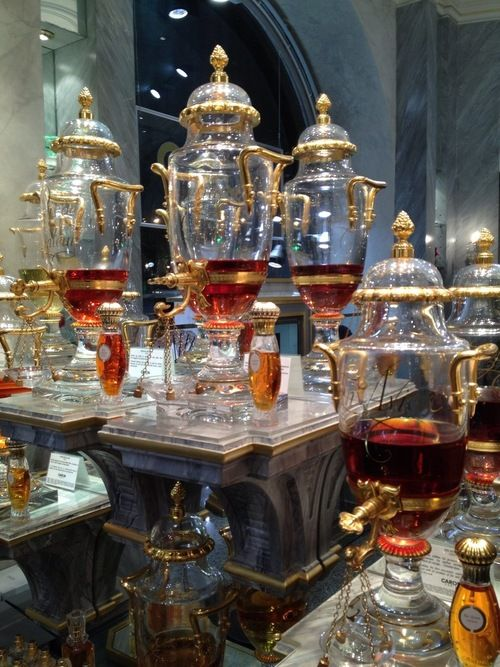 Mr Steampunk One — arsenicinshell: Caron Perfumery Urn and bottles,...