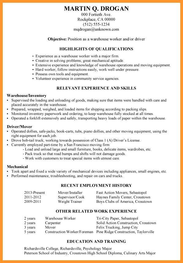 Dock Worker Resume Sample Professional Fedex Dock Worker Templates - Dock Worker Sample Resume