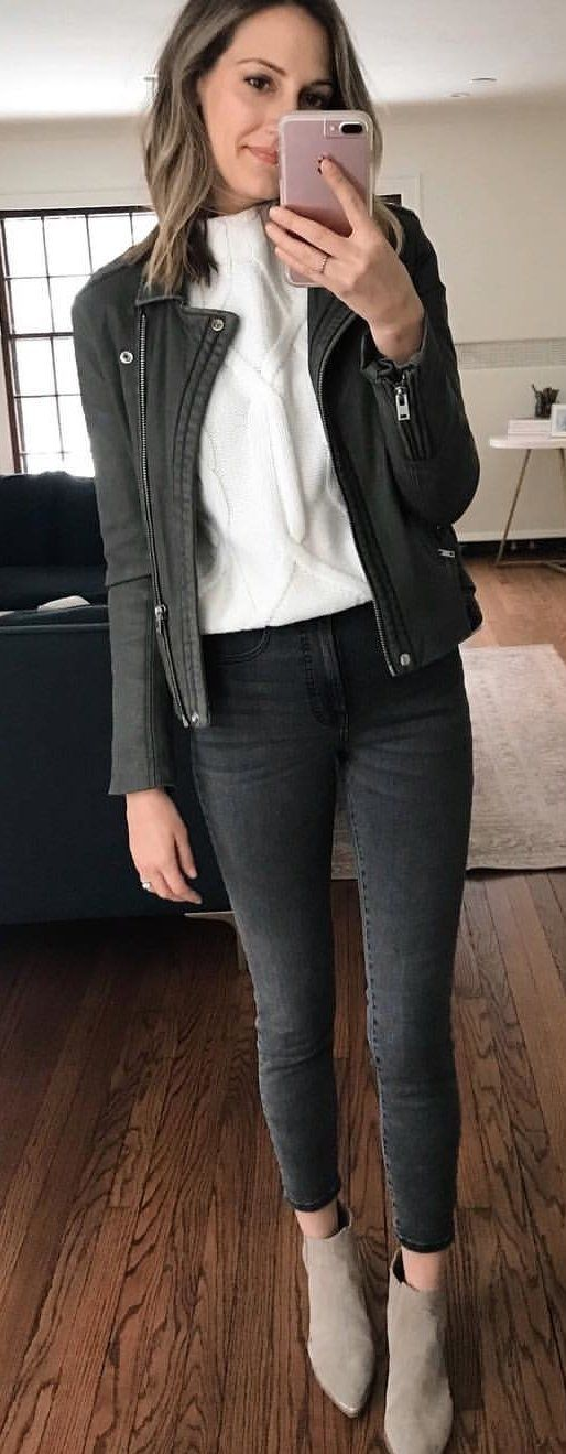 black denim jeans #winter #outfits