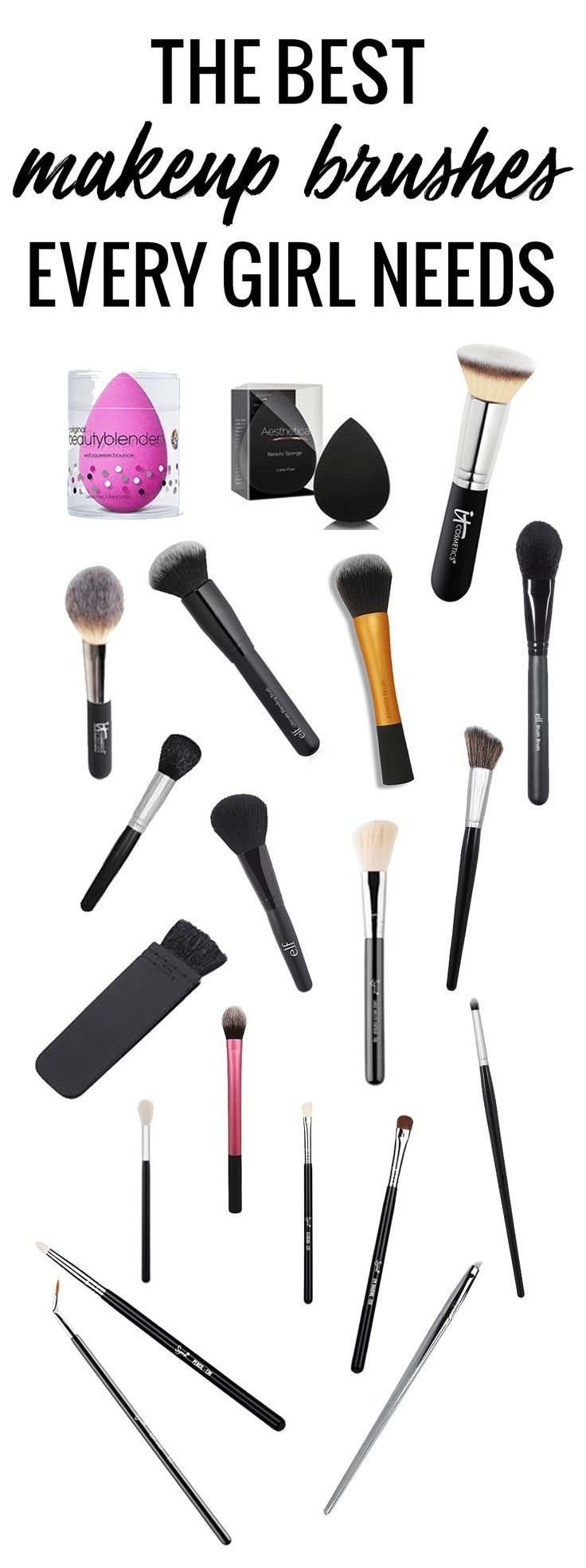 the best makeup brushes every girl needs