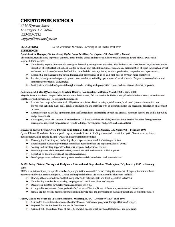 Law School Resume Examples - Examples of Resumes