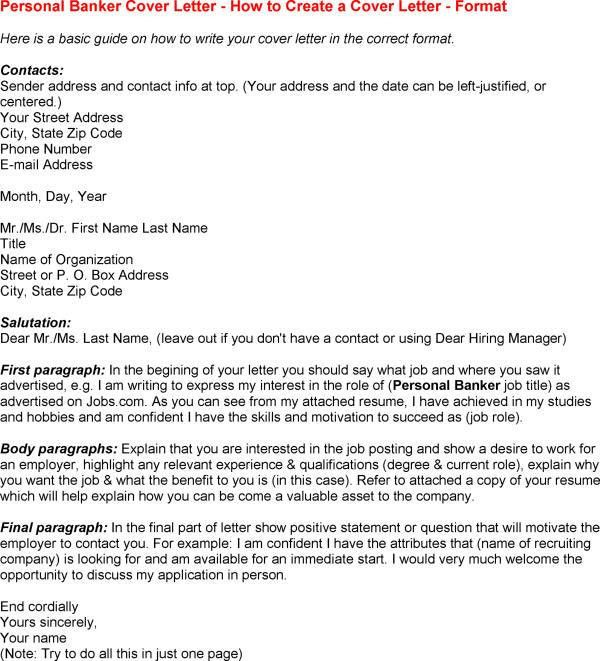 Banker Cover Letter Example Investment Banking Personal