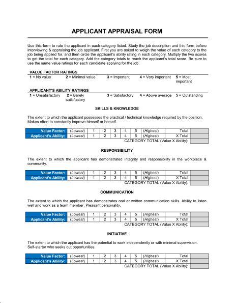 Appraisal Templates 8 Hr Appraisal Forms Hr Templates Free - employee appraisal form sample