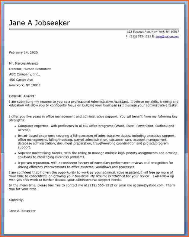 Cover Letter Admin Assistant] Assistant Cover Letter Example