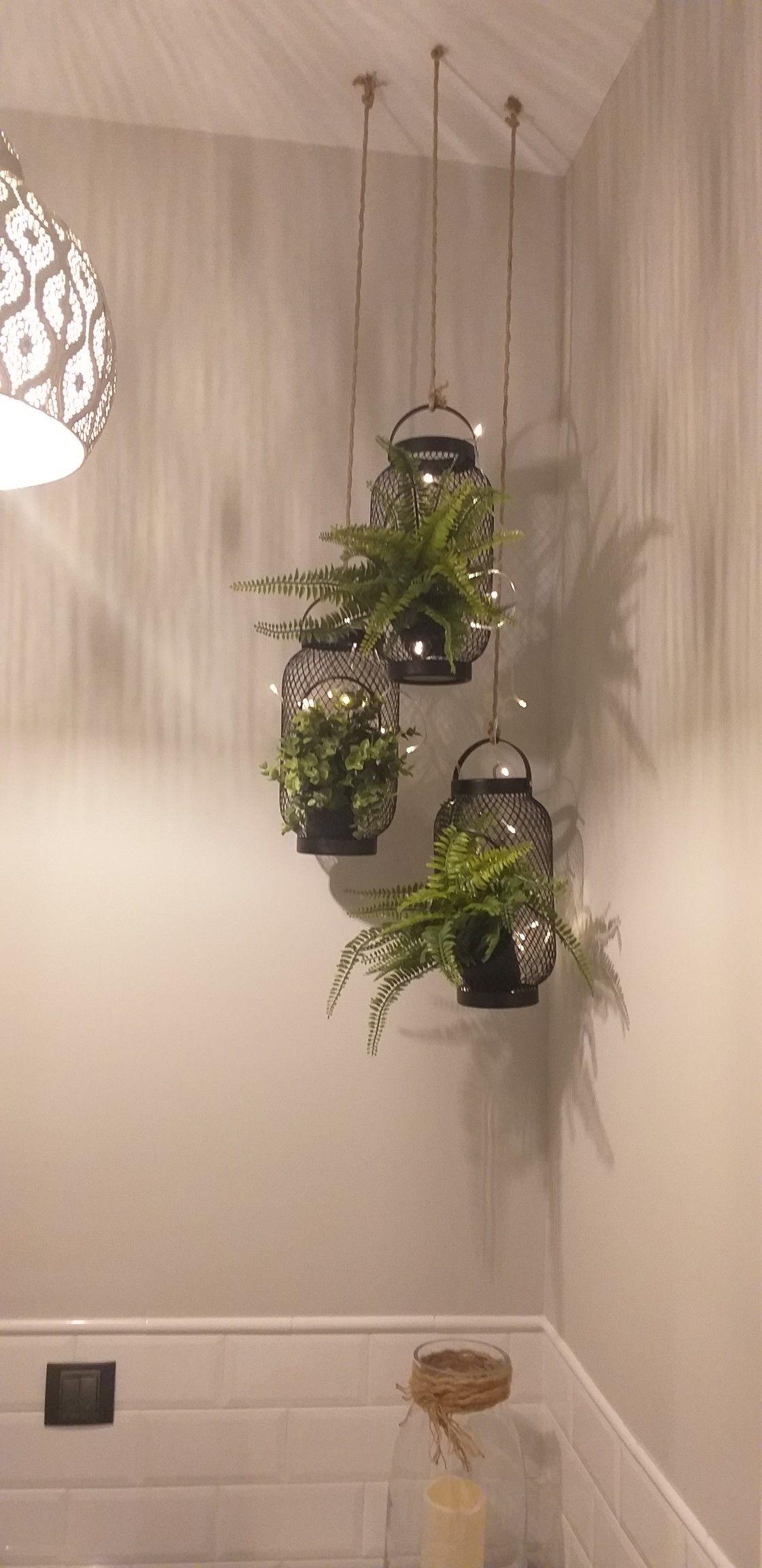 Toilet corner Decoración cuarto de baño Luces, plantas ...