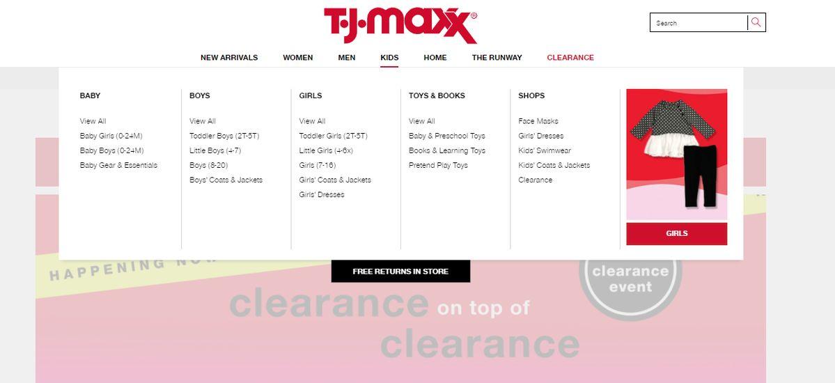 T.J. Maxx Online kids Brands