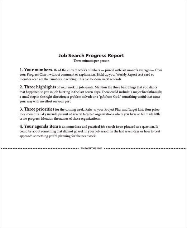 Weekly Report Writing Weekly Report Template 11 Download Free - job progress report