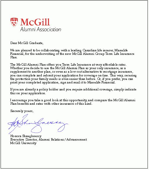 how to write a cover letter mcgill