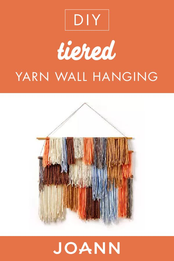Give your interior home decor a boho touch with these DIY Tiered Yarn Wall Hangings from JOANN! This cute and easy-to-make craft is ideal for adding a beautiful pop of color to any room.